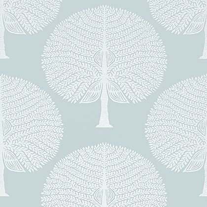 Thibaut Mulberry Tree Wallpaper in Spa Blue